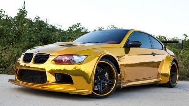 ô tô mạ vàng BMW M3