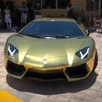 Lamborghini Aventador mạ vàng
