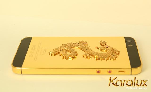 Karalux giới thiệu iPhone 5s khảm rồng đính Ruby đỏ tại Việt Nam