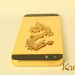 Karalux introduce a unique gold-plated iPhone 5s version with red ruby attached dragon