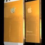 iPhone 5 mạ vàng đính kim cương
