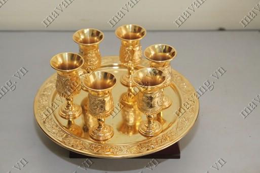Bộ ly cốc mạ vàng 24k