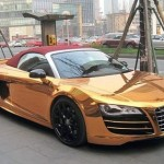 Lộ diện Audi R8 V10 Spyder mạ vàng siêu 'độc'