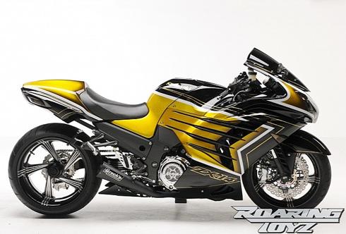 Siêu xe kawasaki mạ vàng 24K