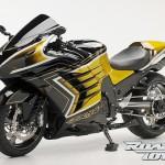 Mạ vàng siêu môtô Kawasaki ZX-14R 2012 tại Việt Nam