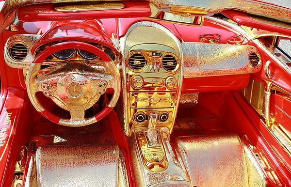 SLR McLaren nội thất mạ vàng