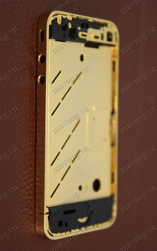 Vỏ xương điện thoại iPhone 4 đã được mạ vàng, mạ vàng iPhone