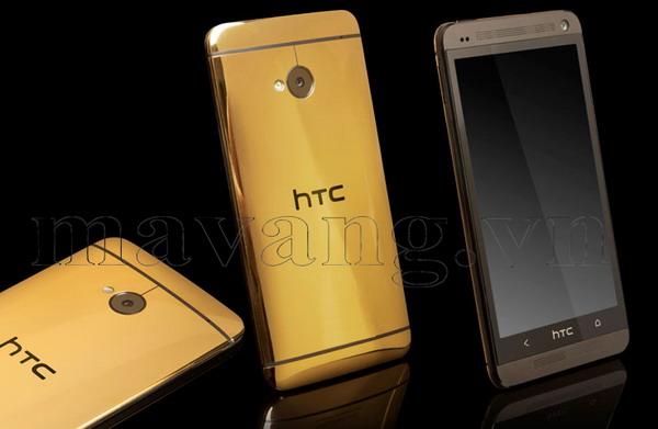 Mạ vàng HTC One khung nhôm nguyên khối