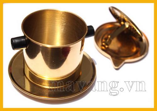 Quà tặng phin cafe mạ vàng
