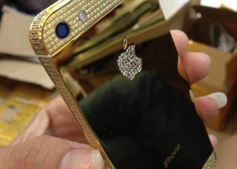 Điện thoại iPhone 5s mạ vàng, vỏ iPhone 5 mạ vàng 24K