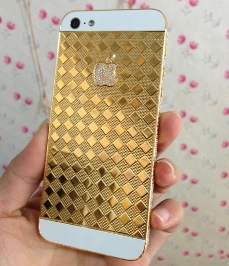 Vỏ iPhone 5s mạ vàng, bán vỏ iPhone mạ vàng