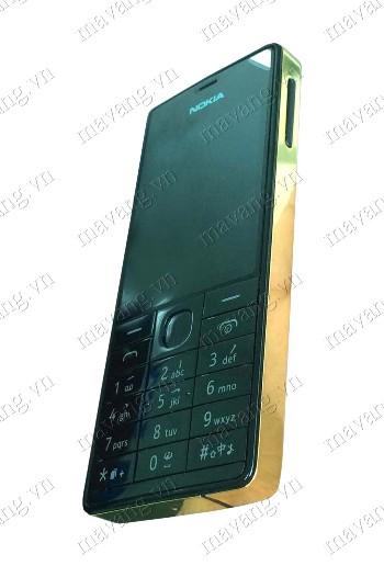Toàn bộ viền và lưng Nokia 515 được mạ vàng 24K