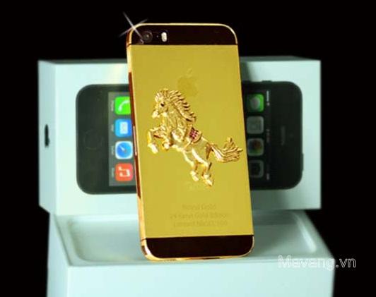 Điện thoại iPhone 5s mạ vàng 24K, mạ vàng 24K cho iphone, iphone ma vang 24K