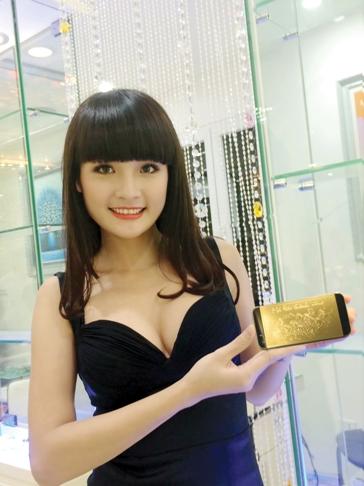 Hình ảnh chụp bằng iPhone 5S mạ vàng 24K