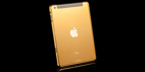 iPad mini mạ vàng 24K, máy tính bảng iPad mini Retina mạ vang