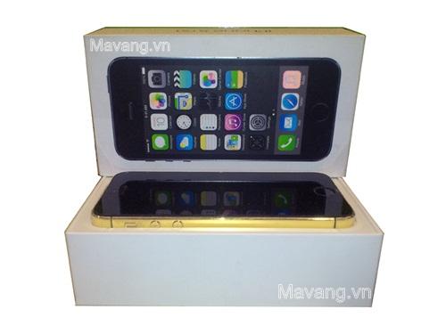 """iPhone 5s mạ vàng 24K phiên bản """" Mã đáo thành công """""""