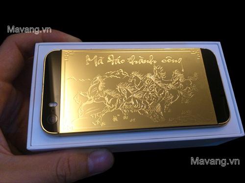 """Ngắm iPhone 5s mạ vàng 24K phiên bản """"Mã đáo thành công"""", iphone 5s ma vang, điện thoại iphone 5s mạ vàng 24K"""