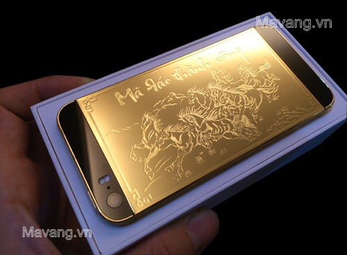 iphone 5s ma vang 24K, điện thoại iphone 5s mạ vàng 18K