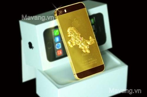 iPhone 5s đúc NGỰA VÀNG , iphone 5s mạ vàng 24K, ma vang 24k cho iphone