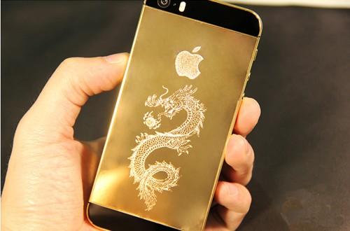 iPhone 5S mạ vàng rồng 24K Thủ Công tại Việt Nam