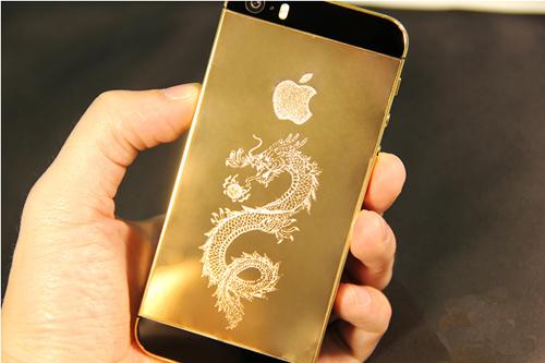 iPhone5s Mạ Vàng 24k Khảm Rồng