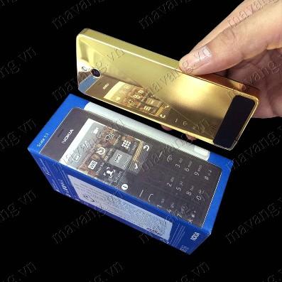 Đập hộp Nokia 515 Mạ vàng 24K