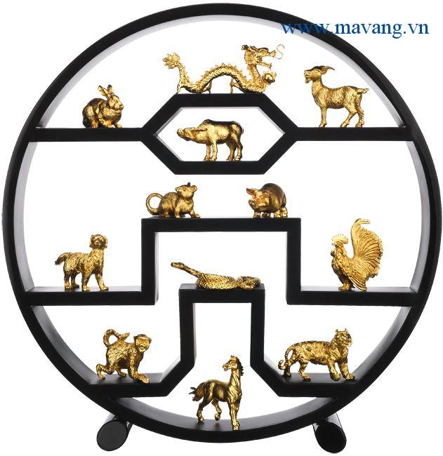 Quà tặng độc đáo 12 con giáp mạ vàng 24k