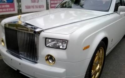 Rolls-Royce Phantom mạ vàng 24K độc đáo tại Việt Nam, Xe rolls royce mạ vang, Xe Phantom mạ vàng 24K
