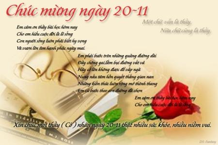 Thiệp chúc mừng ngày nhà giáo việt nam 20-11