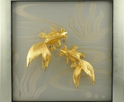 Tranh mạ vàng 24k sang trọng và tinh tế