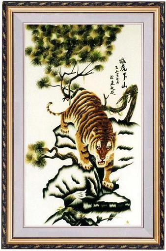 Tranh Hổ Mạ vàng 24K Quà Tặng Sếp