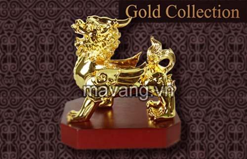 Tỳ Hưu mạ vàng là quà biếu Tết 2014 độc đáo, Ma Vang 24K, qua tang cao cap