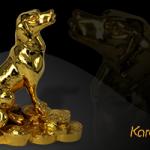 Biểu tượng tuổi Tuất đúc đồng mạ vàng trấn trạch hóa giải sát khí