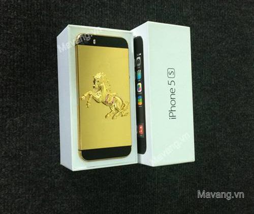 iphone 5s mạ vàng 24K, điện thoại iPhone 5 mạ vàng 18K