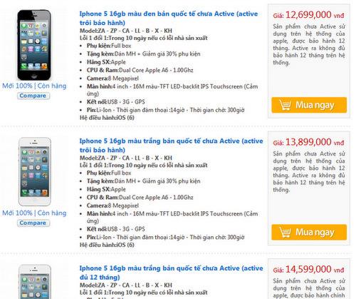 iPhone 5 hàng mới 100% với lời giới thiệu gồm nhiều loại, đủ 12 tháng bảo hành và trôi bảo hành.