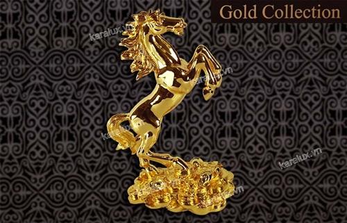 ngựa mạ vàng 24K, ngựa phong thủy dát vàng 9999