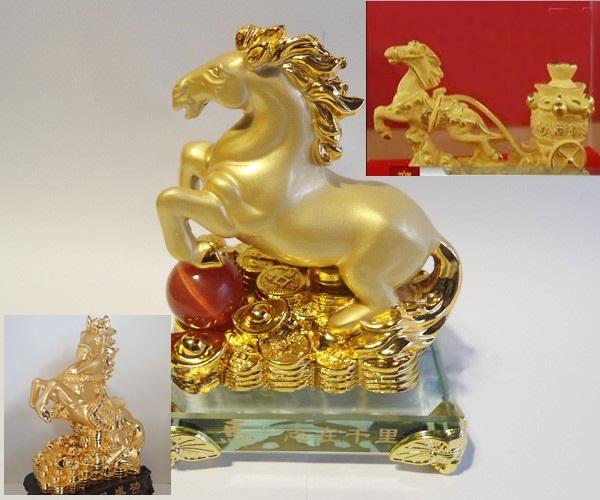 Ngựa Trung Quốc, ngựa mạ vàng giả, Ngựa giả