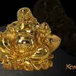 Tượng Phật Di Lặc phong thủy bằng đồng mạ vàng