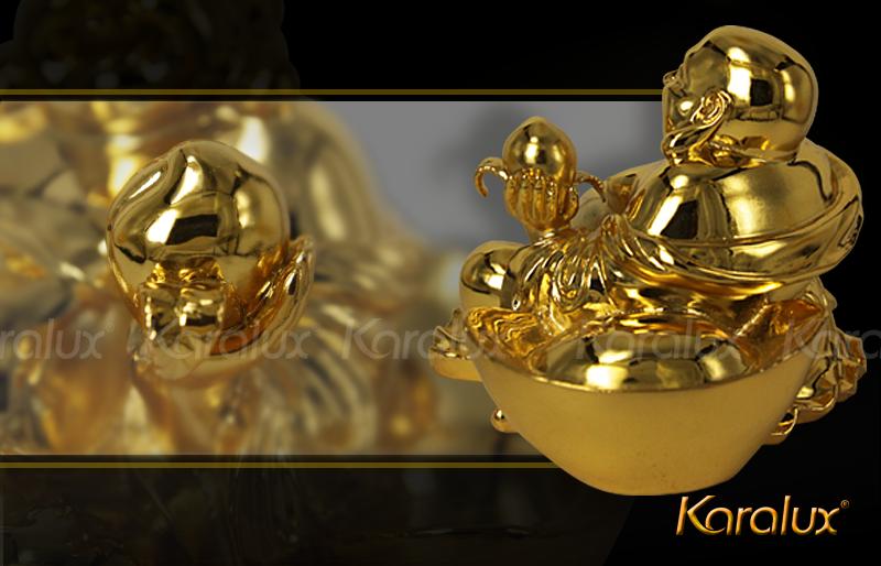 Tuong Phat Di Lac Phong Thuy Ma Vang 24k|tượng Di lặc ngồi bằng đồng mạ vàng