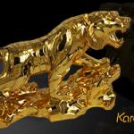 Tượng Hổ phong thủy mạ vàng