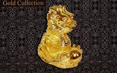 Linh vật rồng phong thủy mạ vàng 24k