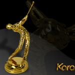 Biểu tượng người chơi Golf mạ vàng