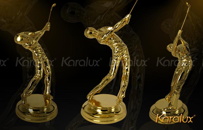 Biểu tượng người chơi Golf đúc đồng mạ vàng 24k phong các Châu Âu