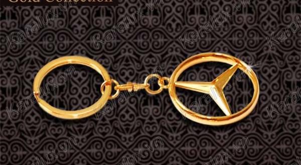 Móc khóa ô tô, móc khóa mạ vàng, mạ vàng 24k, Móc khóa mạ vàng 24k, quà tặng valentine