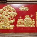 Tặng tranh mạ vàng mừng thọ dịp Tết Giáp Ngọ 2014