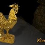 Quà tết 2016: Linh vật gà trống phong thủy mạ vàng hút tài lộc