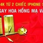 Quà tặng độc đáo ngày 8/3: Mạ vàng điện thoại, nhận ngay bông hồng dát vàng