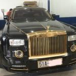 Siêu xe Rolls-Royce Phantom mạ vàng tại Việt Nam