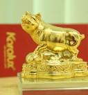 Linh vật Heo phong thủy mạ vàng 24k|Tượng Heo đúc đồng may mắn tài lộc