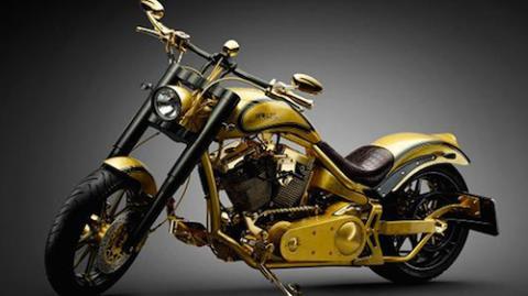 xe Goldfinger, xe Goldfinger độ vàng, xe Goldfinger mạ vàng 24k, xe máy mạ vàng, siêu xe dát vàng